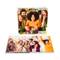 100pg 8x8inch (20x20cm) Pro Hardcover Lay-Flat incl Delivery